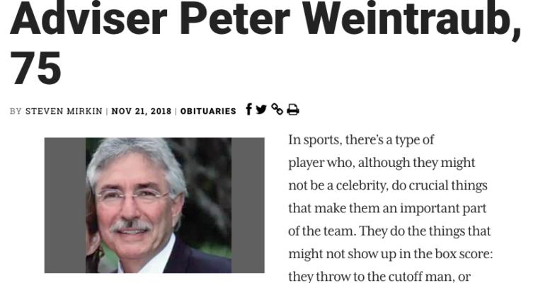 Petey's Jewish Journal Obituary